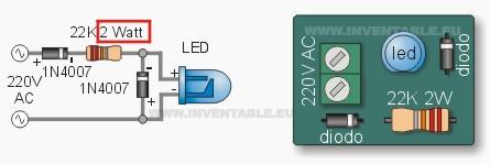 Circuito led 220V