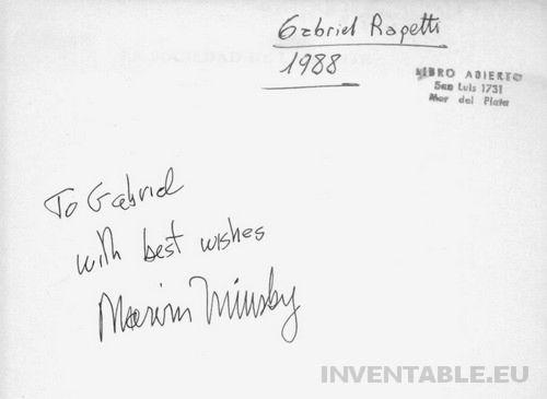Primer página de mi libro con el autógrafo de Marvin Minsky.