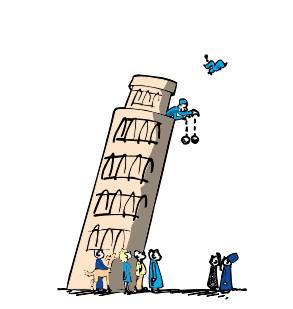 Galileo, para demostrar el principio, dejó caer dos esferas con distinto peso desde la Torre de Pisa.