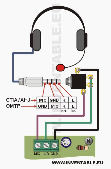 intercomunicador con auriculares