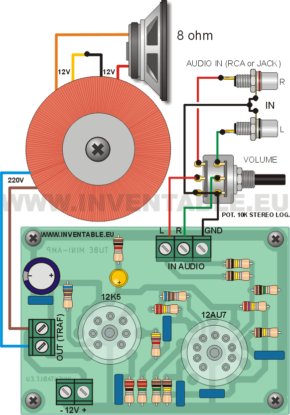 Mini  lificador Valvular on diagrama de amplificador audio
