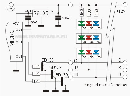 Anatomia De Una Leds String Rgb on arduino m led control
