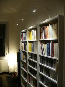 librerías iluminadas con leds