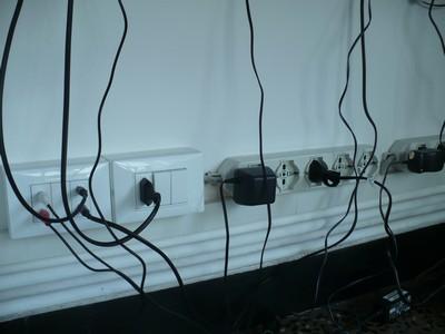 tomas eléctricos de 220V y de 12V