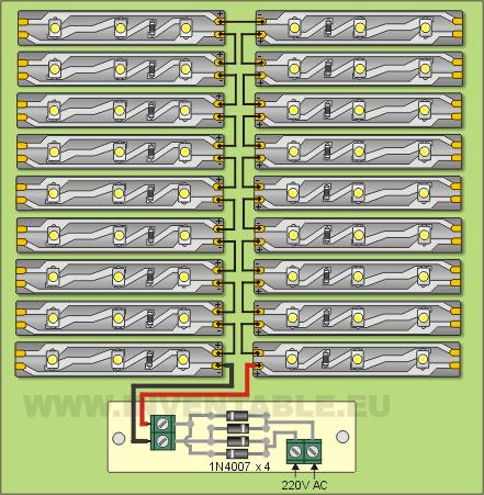 Diagrama pictórico de montaje de los componentes