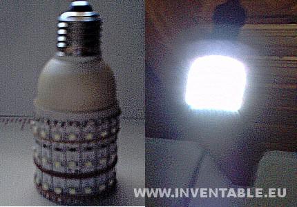 montaje en una lámpara de un lector
