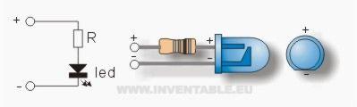 Diagrama de un led con su resistencia