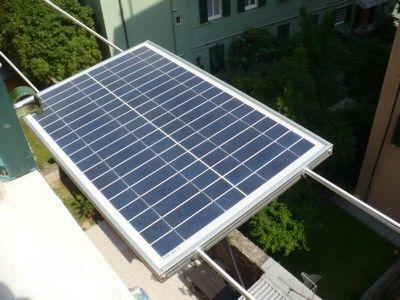 Panel fotovoltaico instalado