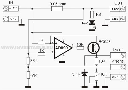 Circuito del sensor de corriente
