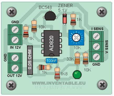 Diagrama pictórico del sensor de corriente