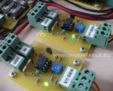 Foto del sensor de corriente montado