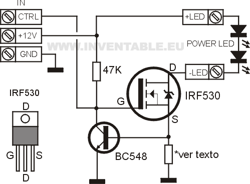 transistor wiring diagram with Driver Para Leds De Alta Potencia on  moreover Continuity Tester furthermore Pisca Pisca Led Transistor Simples E Barato additionally Driver Para Leds De Alta Potencia moreover Controlar Rele Con Transistor.