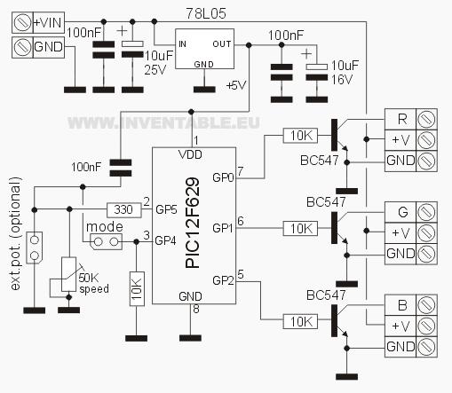 Circuito Led : Controlador rgb para leds de alta potencia inventable