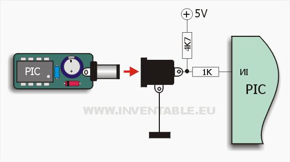 Diagrama de conexión de la llave electrónica a la base