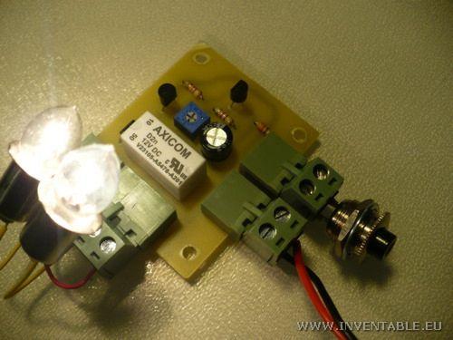 Foto del temporizador con luces de 12V