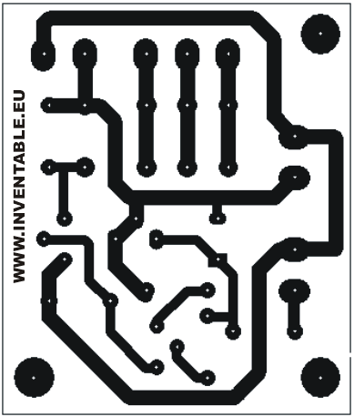 Circuito impreso del temporizador