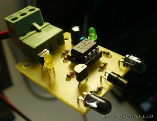 Foto del sensor montado