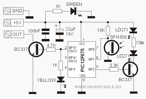 Circuito del sensor IR de proximidad