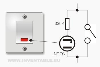 Circuito de un interruptor con luz monitor