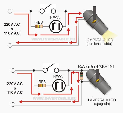 Modo para eliminar la luz residual en los leds