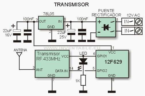 Circuito del transmisor