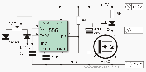 Pwn Dimmer With Ne555 And Mosfet Page 1