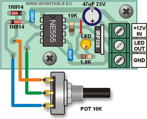 Conexión del regulador a un potenciómetro externo