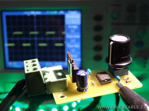 عکس رگولاتور دل برای LED ها با 555 کامل