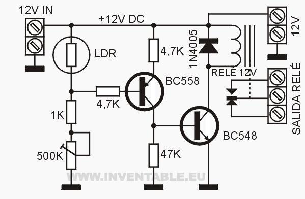c u00e9lula fotoel u00e9ctrica muy simple con solo 2 transistores