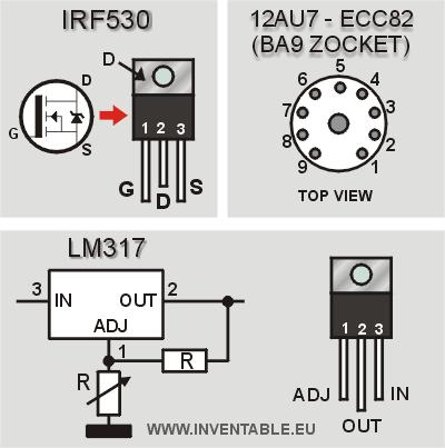 Información de los componentes usados en el montaje