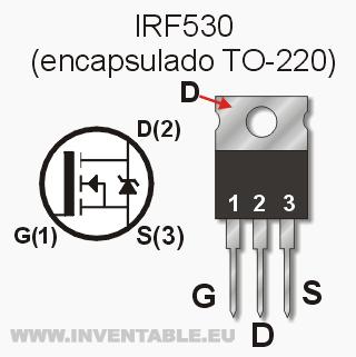 encapsulado IRF530