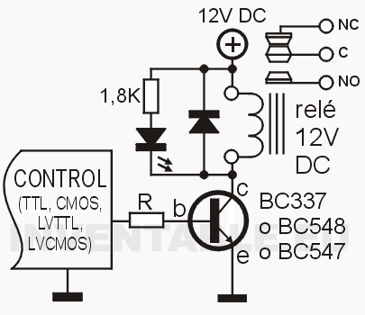 Controlar Rele Con Transistor on led