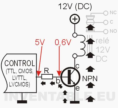 como controlar un rel u00e9 con un transistor