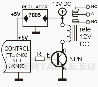 wiring diagram for a 12v relay with Controlar Rele Con Transistor on Showthread in addition Controlar Rele Con Transistor as well Understanding Relays also Refrigerator  missioning besides How To Wire A Dump Trailer Remote.