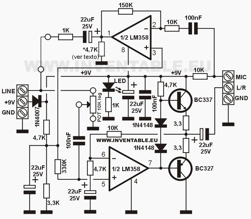 Circuito del intercomunicador (uno de los módulos).
