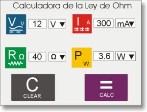 Calculadora de la Ley de Ohm