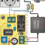 Vista pictórica del retardo de encendido con las conexiones necesarias