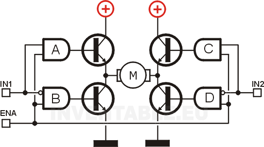 Puente H completo con lógica de control