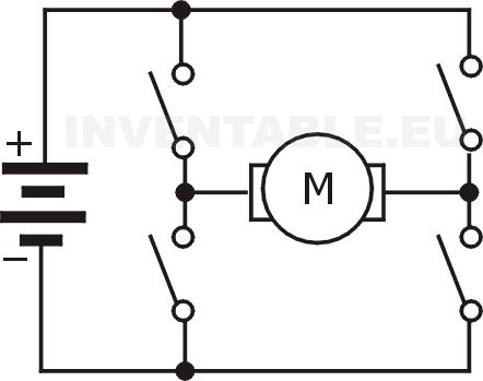 Puente H hecho con interruptores