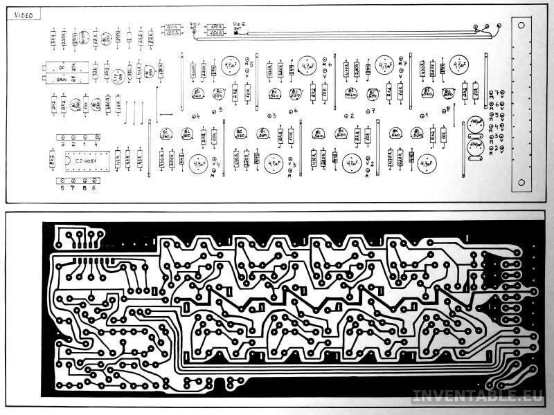 1987: fotocopia de un diseño hecho con transferibles Letraset sobre acetato transparente.