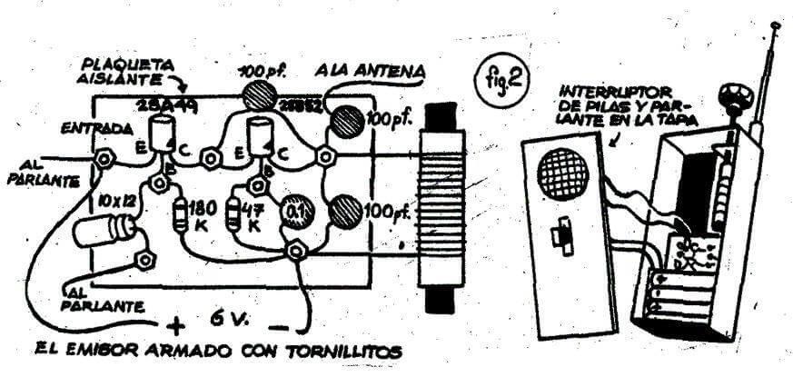 1975: montaje con la técnica de los tornillos sobre base de fórmica de la revista Lupin.
