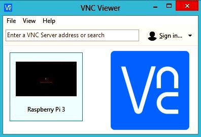 VNC Viewer para trabajar con la Raspberry PI en modo remoto a través de la WiFi.