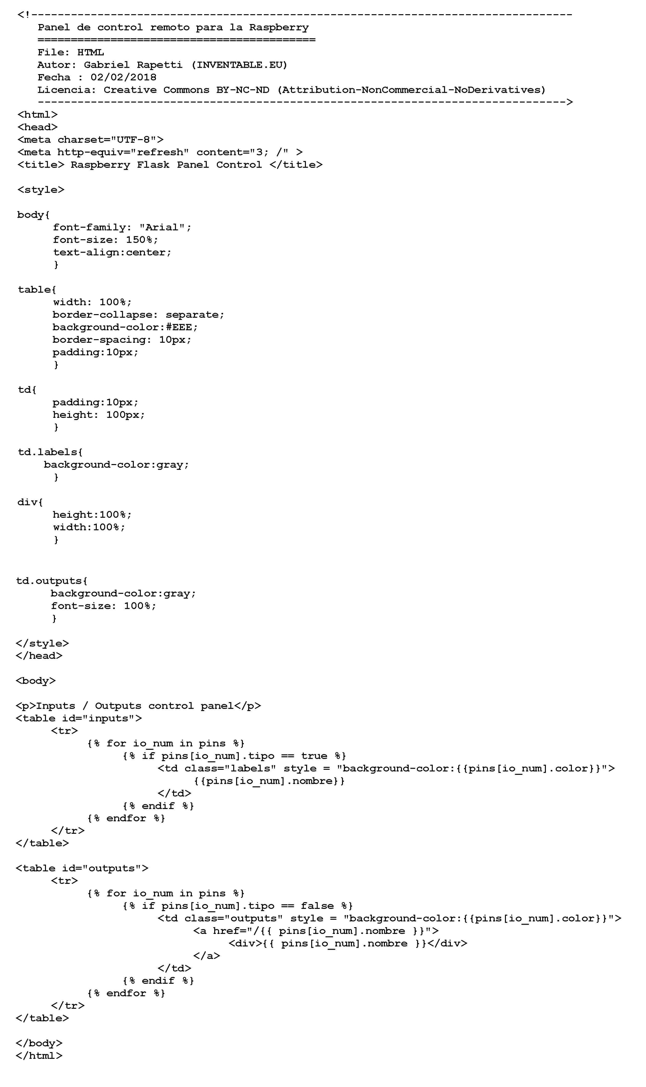Código completo de la página html.