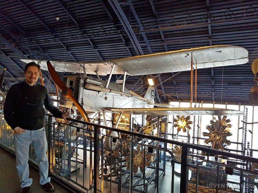 El mítico avión de Lúpin en el Museo de la Ciencia de Londres.