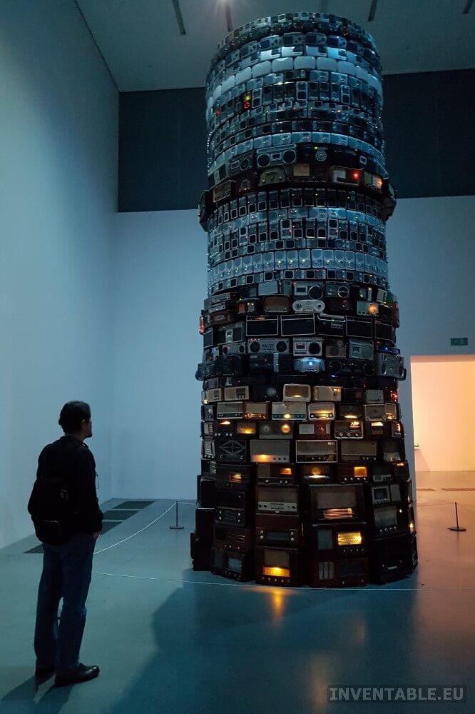 Detalle de la escultura Babel de Cildo Meireles al Tate Museum de Londres
