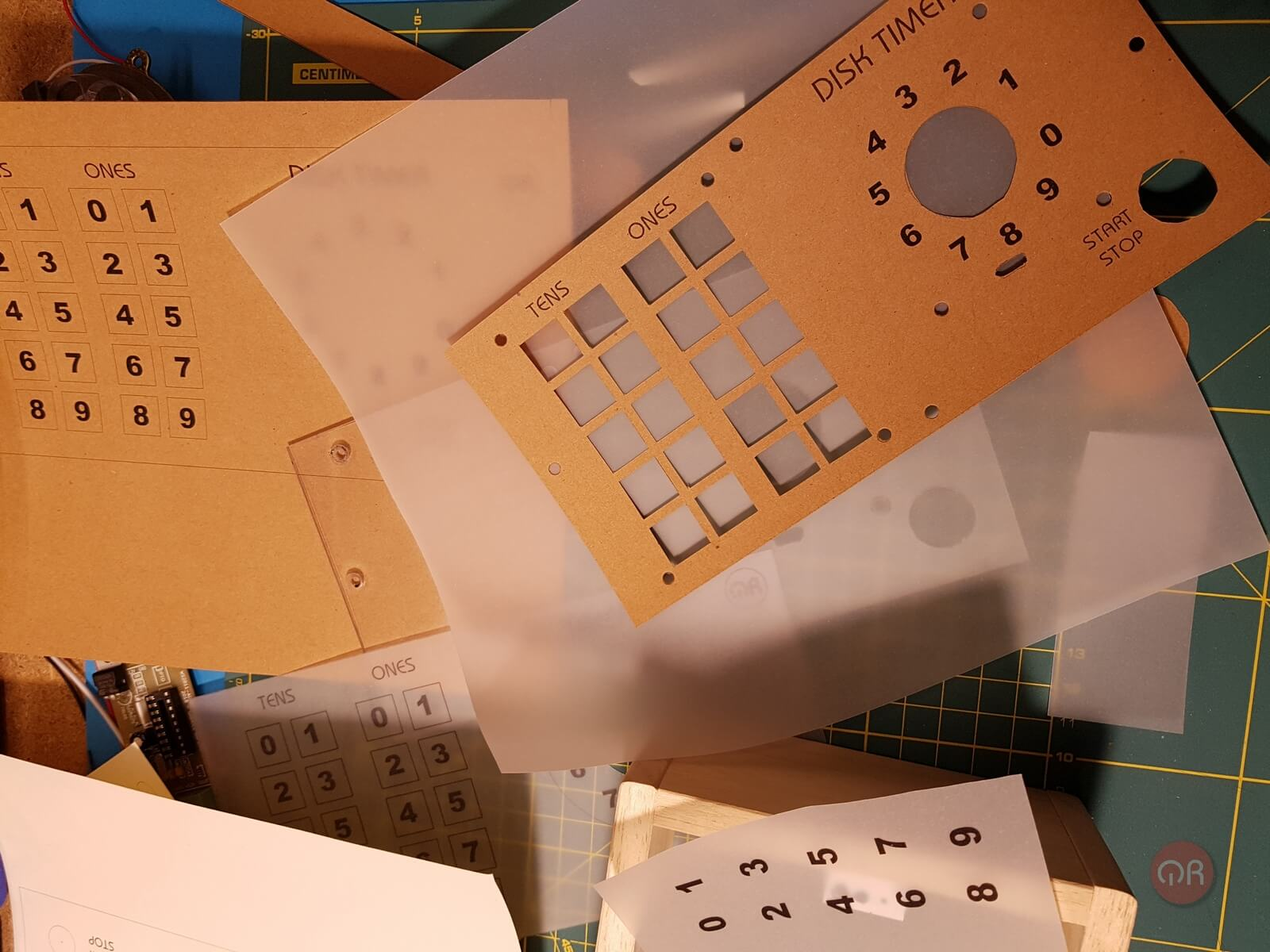 Diseño del panel frontal del timer