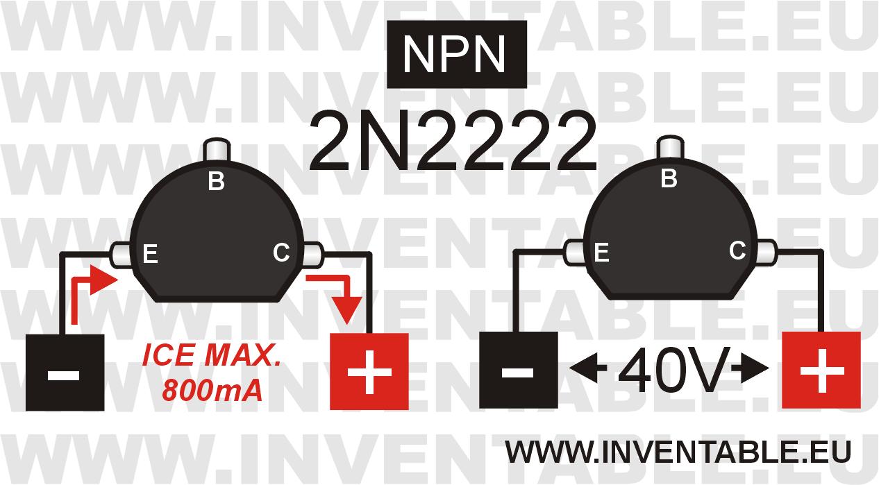 Corriente y tensión máxima del 2N2222