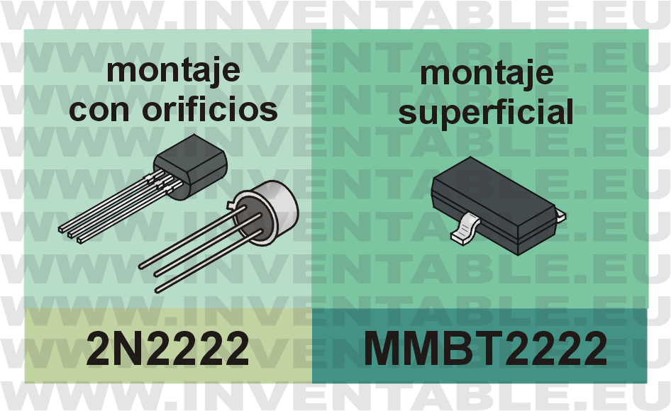 Equivalente del 2N2222 para montaje superficial