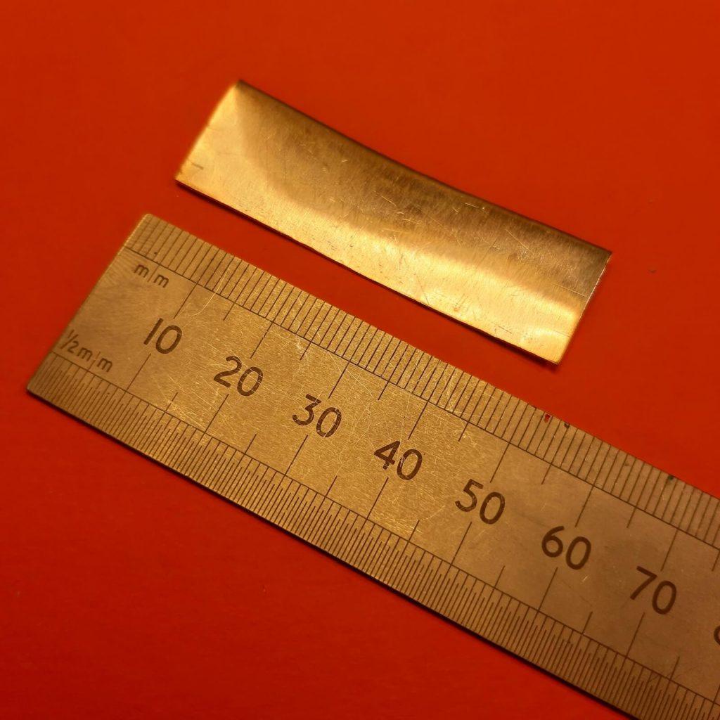 rectángulo de aluminio de 50mm x 15mm