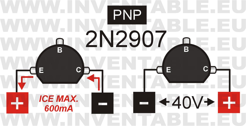 Corriente y tensión máxima del 2N2907